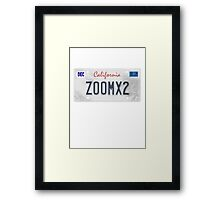 License Plate - ZOOMX2 Framed Print