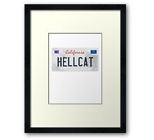 License Plate - HELLCAT Framed Print