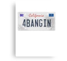 License Plate - 4BANGIN Canvas Print