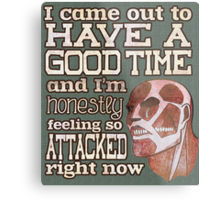 Attack on Titan - Feeling so Attacked Metal Print