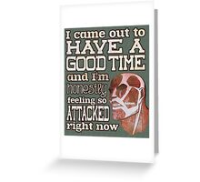 Attack on Titan - Feeling so Attacked Greeting Card