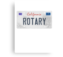 License Plate - ROTARY Canvas Print