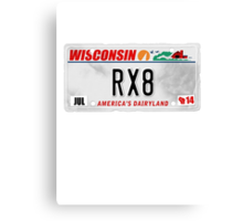 License Plate - RX8 Canvas Print