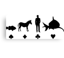 Evolution Poker Canvas Print