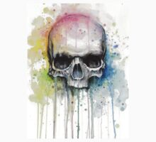Skull Watercolor Painting Kids Clothes