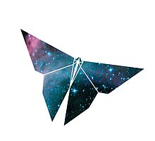 Cosmic Origami Butterfly by melondew
