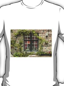 Green Window in Brugge - Travel Photography/ Object Photography T-Shirt