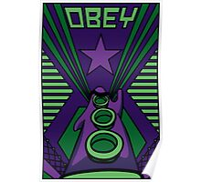 OBEY Purple Tentacle Poster