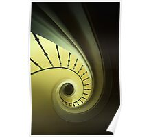 Green and yellow spirals Poster