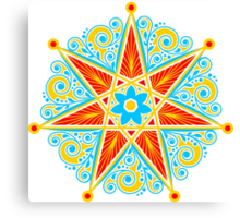 Elven Star, Perfection & Protection, Heptagram,  Canvas Print