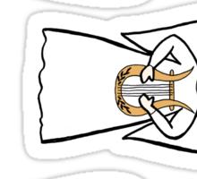 3 little angels (lyre) Sticker