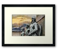 In the dreams of the Seafarers, Bergen, Norway Framed Print
