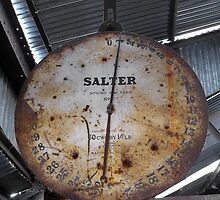 Weighing scales, The Big Pit, Blaenavon, Wales by buttonpresser