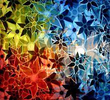 Colorful Vintage Trendy Floral Pattern by Nhan Ngo