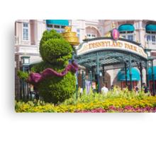 Disneyland Paris 20th Anniversary Entrance Decor Canvas Print