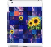 Sunflowers And Squares Decorative Design  iPad Case/Skin