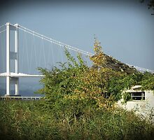 Severn bridge, and the old Aust Ferry by buttonpresser