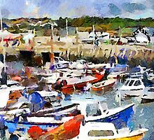 Boats in West Bay Harbour, Dorset, UK by buttonpresser