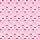 Cute Retro Pink Hearts Pattern by iEric