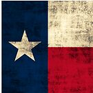 Vintage Grunge Flag of Texas by iEric