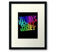 Wibbly Wobbly Timey Wimey Rainbow Framed Print
