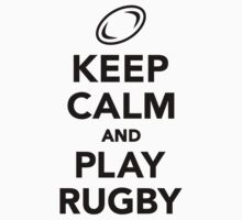 Keep calm and play Rugby Kids Clothes