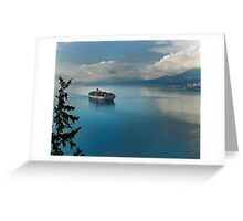 Container Ship Entering Vancouver Harbour Greeting Card