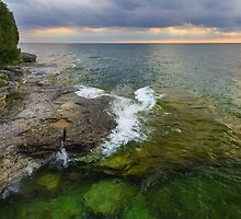 Sunrise Over Rocky Coastline by Kenneth Keifer