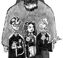 Strolling Through Hogwarts Halls by Graeme Partridge-David