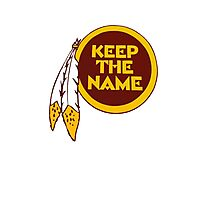 Redskins - Keep The Name Photographic Print