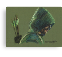 Green Arrow Canvas Print