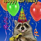 Birthday Raccoon by jkartlife