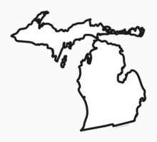 Michigan State Outline by USAswagg