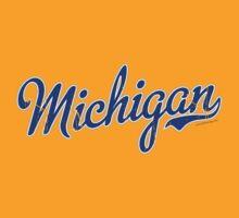 Michigan Script VINTAGE Blue by USAswagg