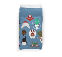 Many faces of Ghibli Duvet Cover