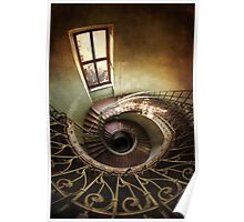 Spiral stairs and the window Poster