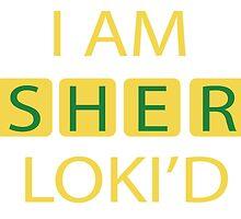 I AM SHER-LOKI'D [Yellow] by Kirstie Rutter