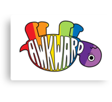 Awkward Turtle - RAINBOW Canvas Print
