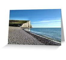 Seven Sisters White Cliffs Greeting Card