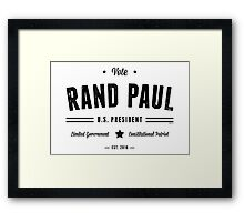 Vote Rand Paul 2016 Framed Print