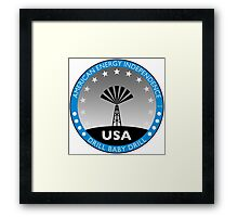 American Energy Independence Framed Print