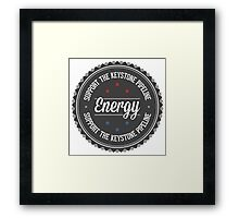 Support The Keystone Pipeline Framed Print
