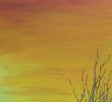 Sunset,  Romsey III -Pastel by MIchelle Thompson