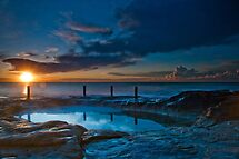 Sunrise over Rockpool, Coogee by Erik Schlogl