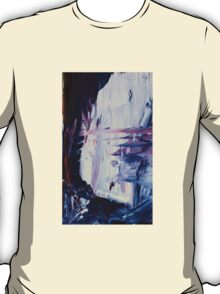 Abstract Prussian Blue Flying Kites 2 Acrylics On  Canvas Board T-Shirt