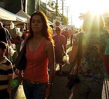 Farmers Market, Late Afternoon by Laurie Allee