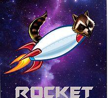 Guardians of the galaxy- rocket raccoon space design by heidilauren27
