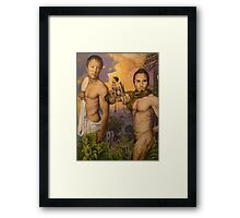 Allegory of the Cave III acrylic on canvas Framed Print