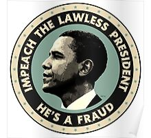 Obama Is A Fraud Poster