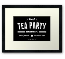 Tea Party Conservative Framed Print